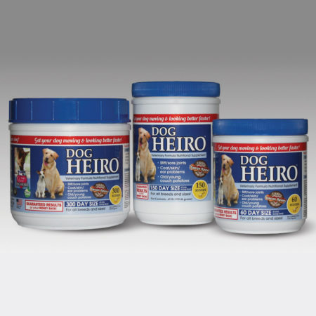 HEIRO Supplement for Dogs available in 3 sizes